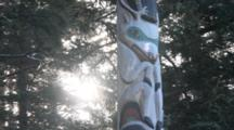 Totem Pole In Forest