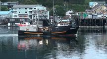 Fishing Boat Returning To Port.
