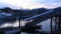 Boat Harbor/Birds At Sunrise.