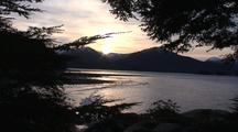 Sunrise Over A Southeast Alaska Beach.
