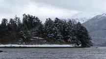 Winter Scene. Southeast Alaska Coast
