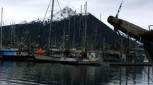 Dawn:  Fishing Boat Harbor In Alaska.