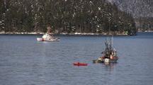 Coast Guard Cutter Monitoring A Fishery