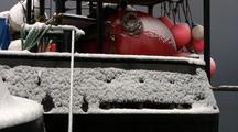 Snow Covers The Fishing Fleet