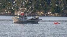 The Coast Guard Checks A Fishing Boat