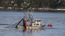 A  Purse Seine Boat Fishes. Coast Guard Watches.