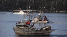 The Coast Guard Observes A Purse Seine Boat During The Sitka Sound Sac Roe Herring Fishery