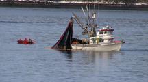 The Coast Guard Observes A Fishing Boat.
