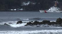Coast Guard Cutter & Surf