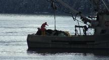 Purse Seine Boats Fishing In Alaska