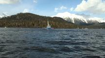 Purse Seine Boats & Fish Tenders In A Fiord/Bay