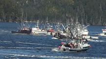 Fishing Boat Chaos And High Speed Fishing Action.