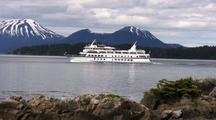 Cruise Ship & Volcano: Inside Passage Alaska