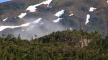 Clouds Move Across The Alpine Landscape
