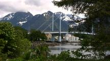 Scenic: Highway Bridge & Harbor