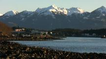 Coastal Community With Mountains Behind (Sitka  Alaska)