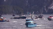 Commercial Fishing Boats ( Purse Seiners Dropping Nets)