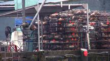 Stacked Crab Pots (Traps)