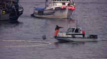 Fish Technician Taking Fish Samples