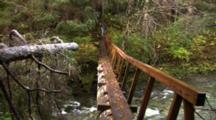 Log Footbridge For Hikers