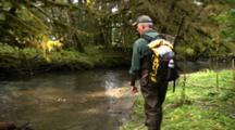 Hiker/Hunter Follows Brown Bear Tracks