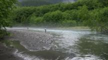 Fly Fishermen In Wilderness