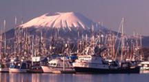 Sunrise In A Scenic Boat Harbor