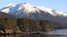 Sunset Scene: Secluded Beach In Alaska