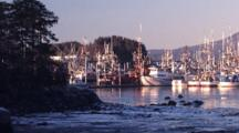 Early Morning In A Boat Harbor
