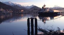 Early Morning Boat Harbor & Coast Guard Dock
