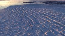 Aerial Shot Of Glacier, Antarctica