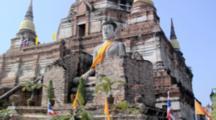 Buddha Statues At Wat Yai Chaya Mongkol, Ayuthaya