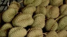 Fresh Durian (The Queen Of Fruits) At A Durian Wholeseller In Pak Khlong Market