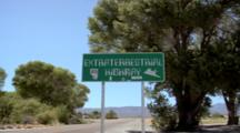 Signboard Of The Extraterrestrial Highway No 375