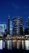 Time Lapse Sydney Tower And Cbd Facing Darling Harbour Early Evening