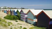 Colorful Beach Houses Called Bathing Boxes, At Brighton Beach