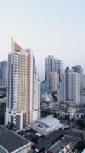 Overlook View Of High Rise Buildings Of The Sathorn Business District Late Afternoon