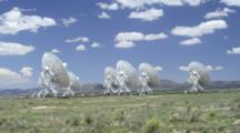 Cloudy Sky And Very Large Array Radio Telescopes Near Socorro, New Mexico