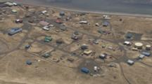aerial cineflex coastal village alaska peninsula