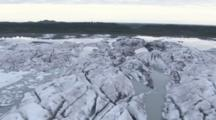 Cineflex Aerial Of Sheridan Glacier And Mirrored Waters Of Sheridan Glacier Lake On The Copper River Delta