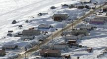 Zatzworks Cineflex Aerial Of Shaktoolik Village On Edge On Bering Sea In Western Alaska