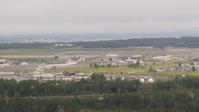 Aerial Over City of Anchorage,Alaska