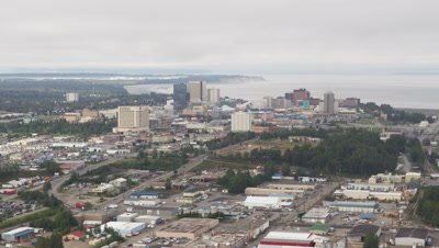 Aerial Over City of Anchorage,Alaska
