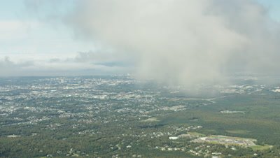 Aerial Anchorage Area Revealed Through Clouds