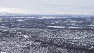 Aerial,Vast,Desolate Alaska Winter Landscape