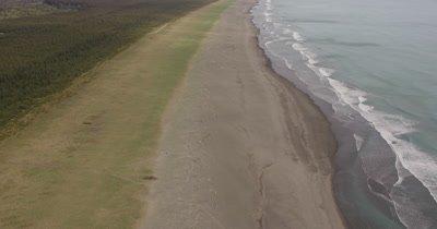 POV Aerial Following Shoreline