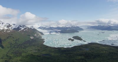 Aerial Wide View Of Glacier Bay National Park