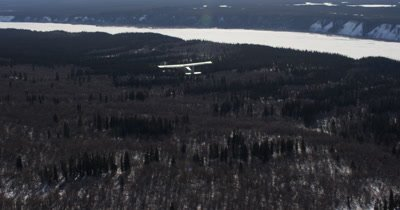 Alaska bush plane flying during winter snow transportation no releases