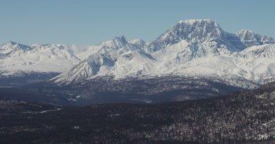 Slow Aerial,Grand Vista of Majestic Mountain Range
