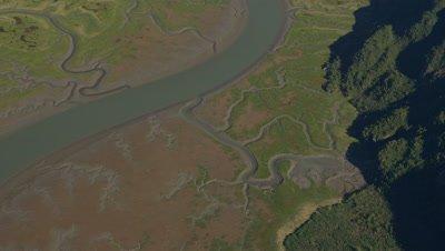 UHD Iniskin Bay Near Lake Iliamna Pebble mine beautiful meandering river